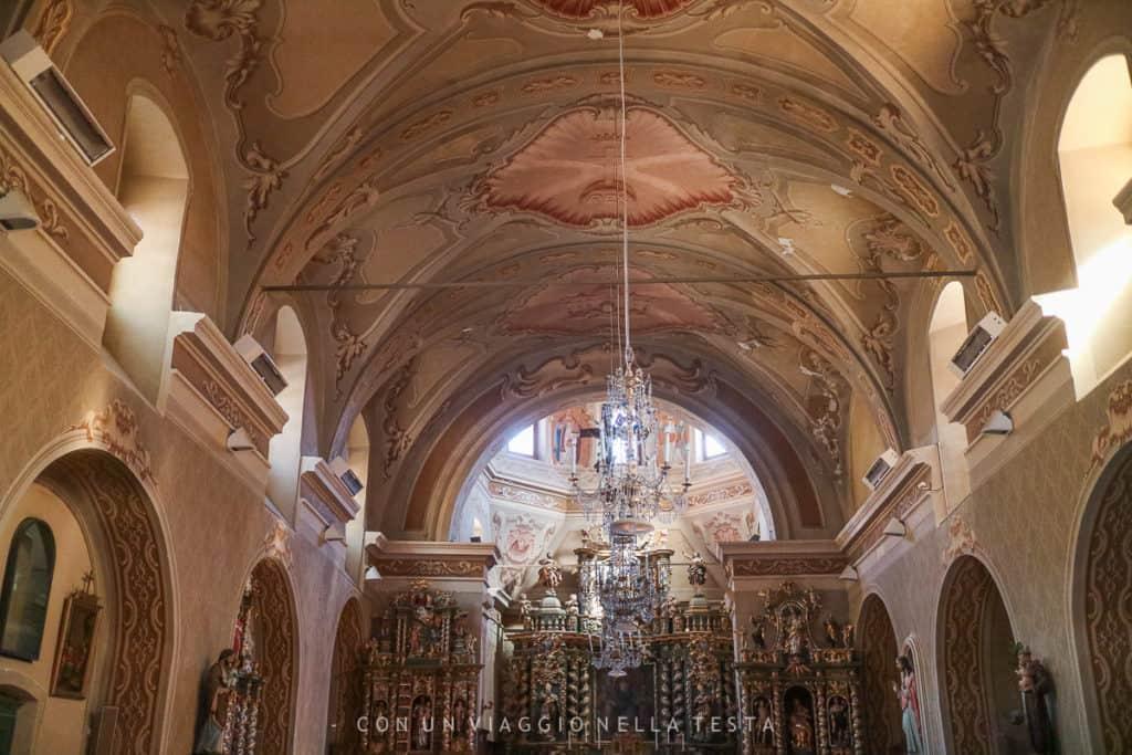 L'interno della chiesa di Sant'Orso a Cogne