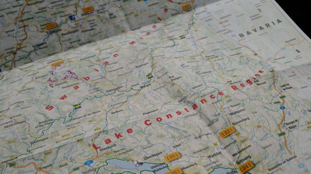 organizzare viaggio on the road mappa