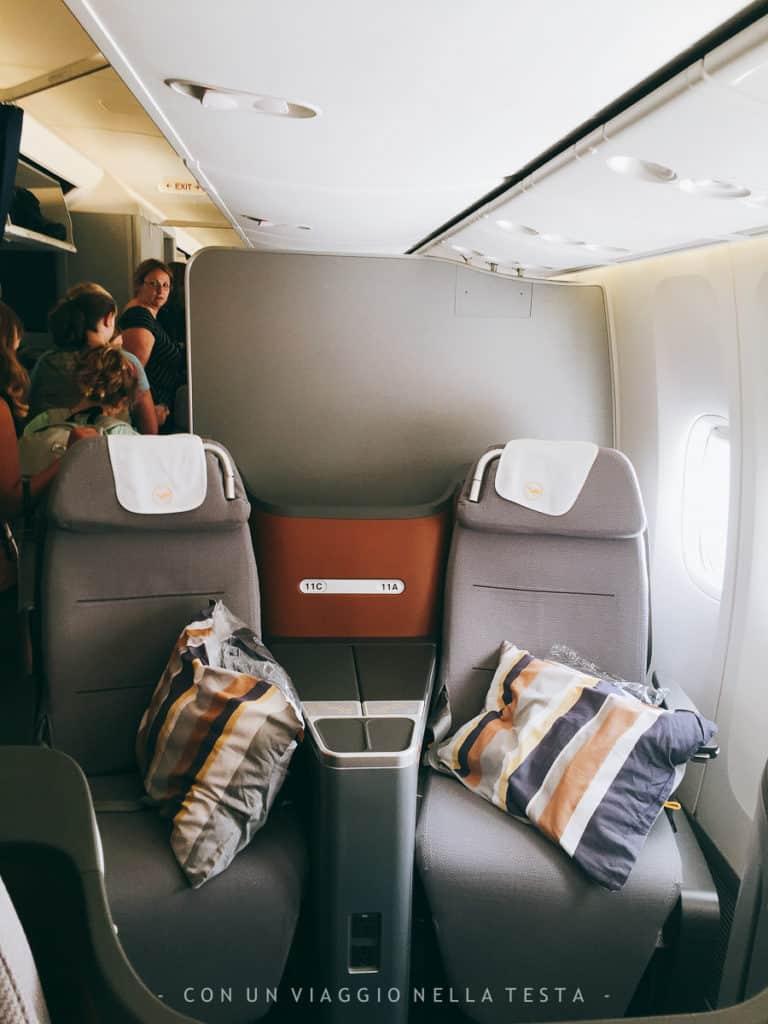 I sedili della business class Lufthansa