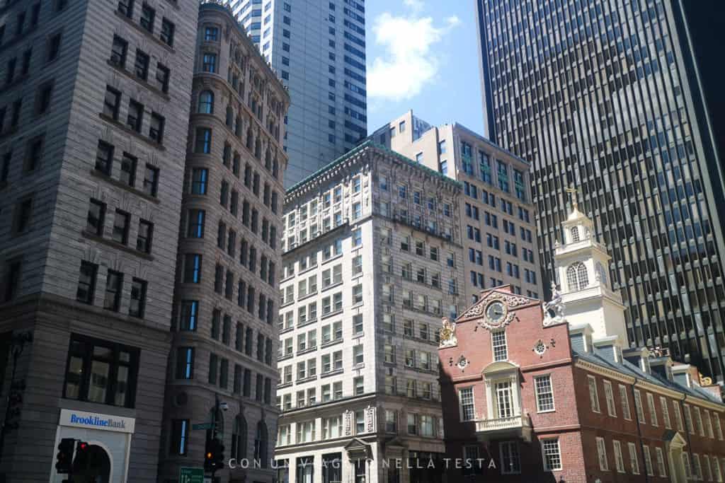 I contrasti architettonici di Boston, tra grattacieli e vecchie costruzioni