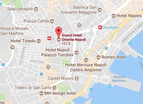 hotel 4 stelle napoli mappa
