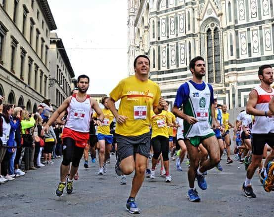 Renzi podista per Corri la Vita