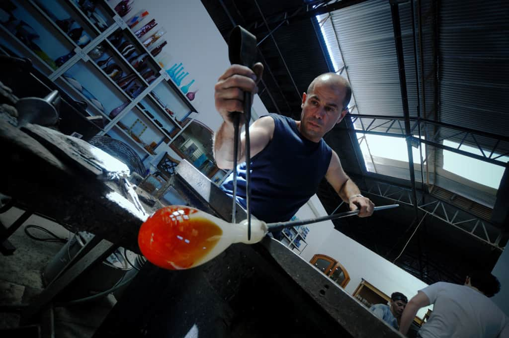 Laboratorio di modellazione del vetro.