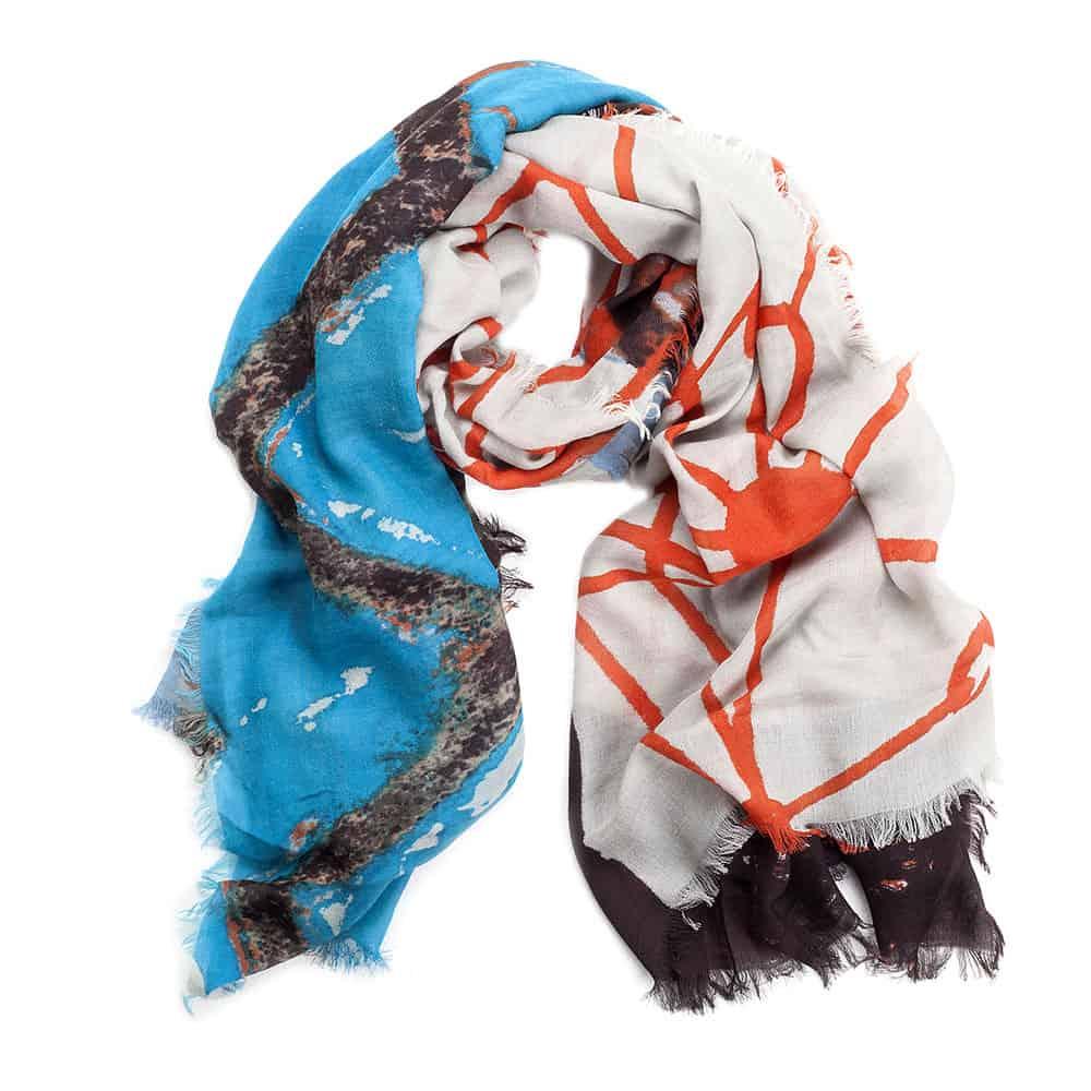 sciarpa in lana e seta colorata