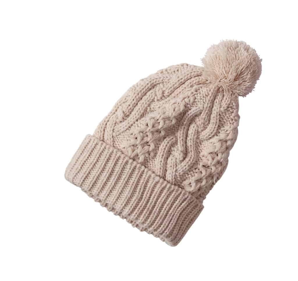 berretto in lana con pon pon