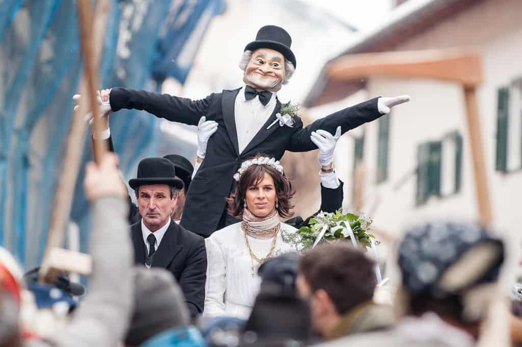 Lo sposo e la sposa, personaggi chiave della sfilata dell'Egetmann
