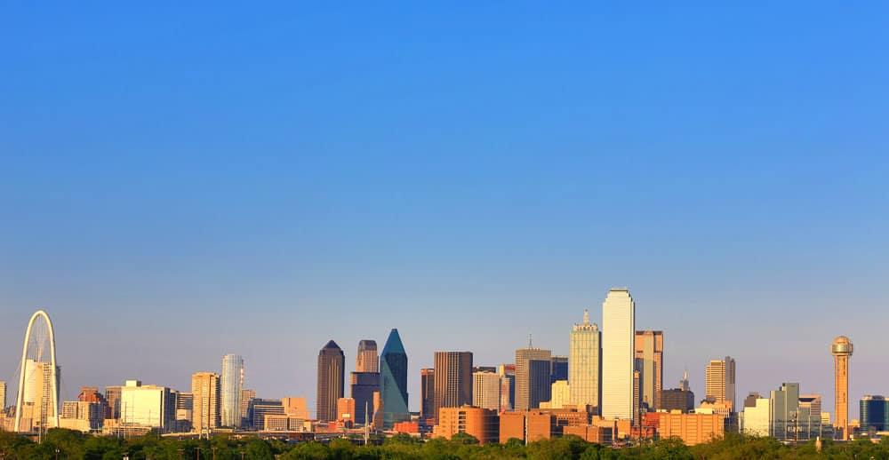 Skyline di Dallas con grattacieli