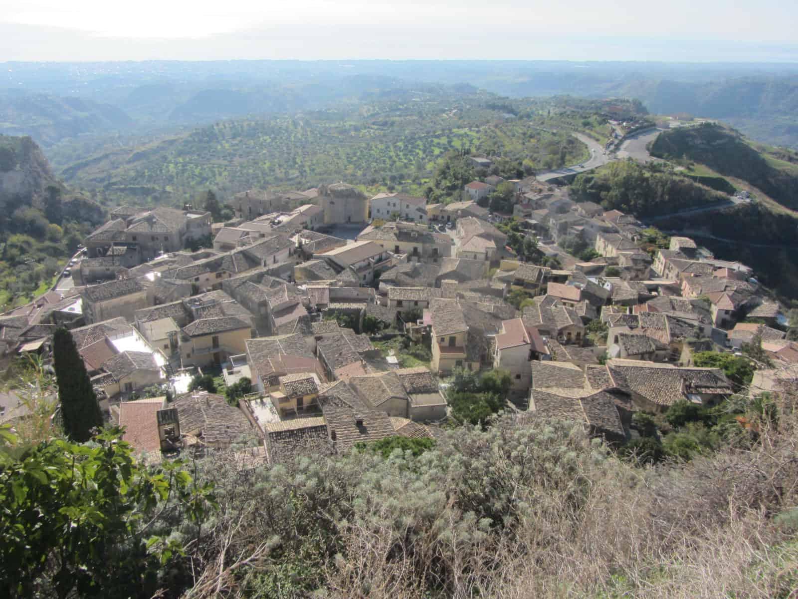 Gerace, veduta del borgo maggiore