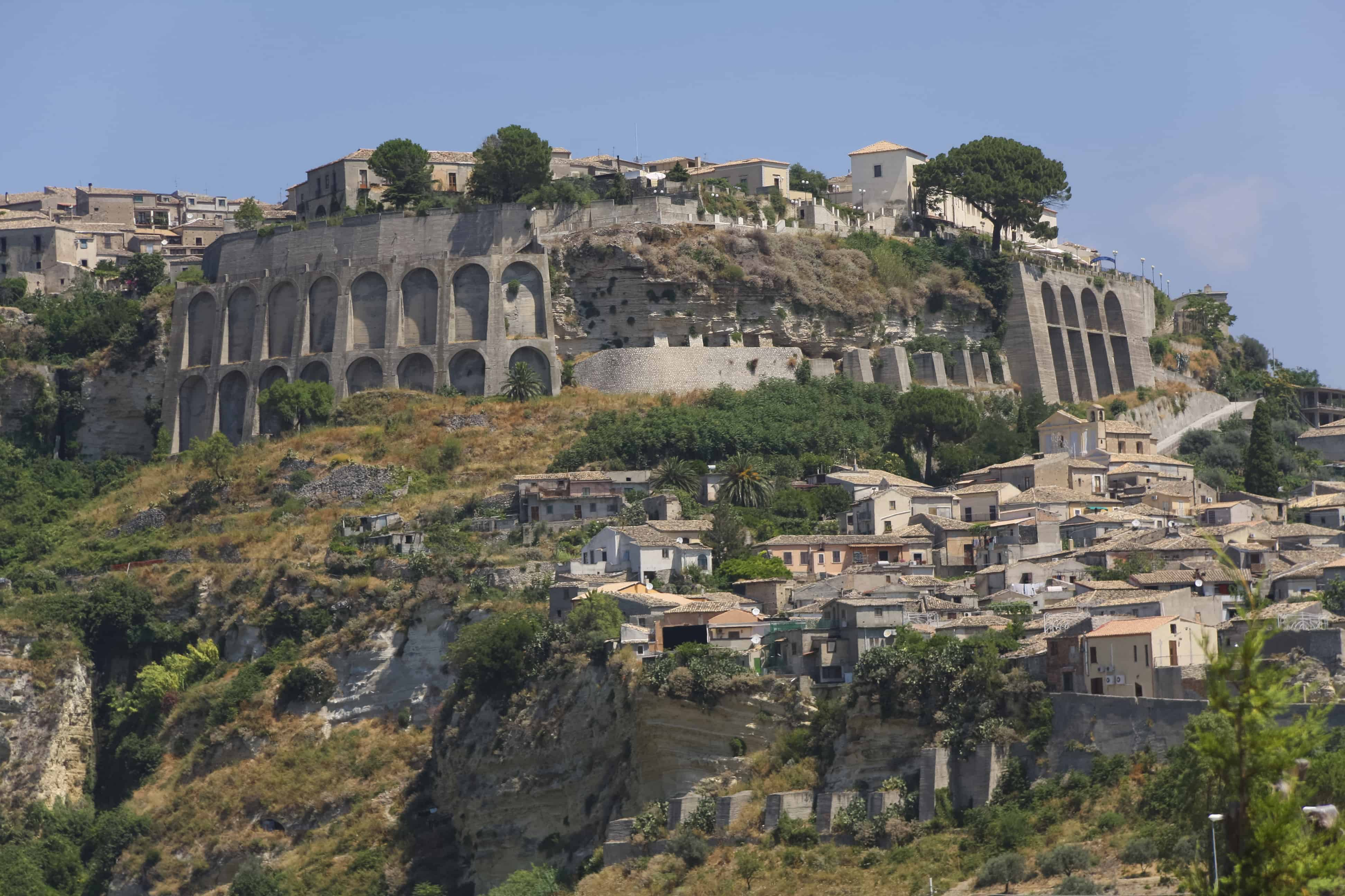 Veduta di Gerace, in provincia di Reggio Calabria.