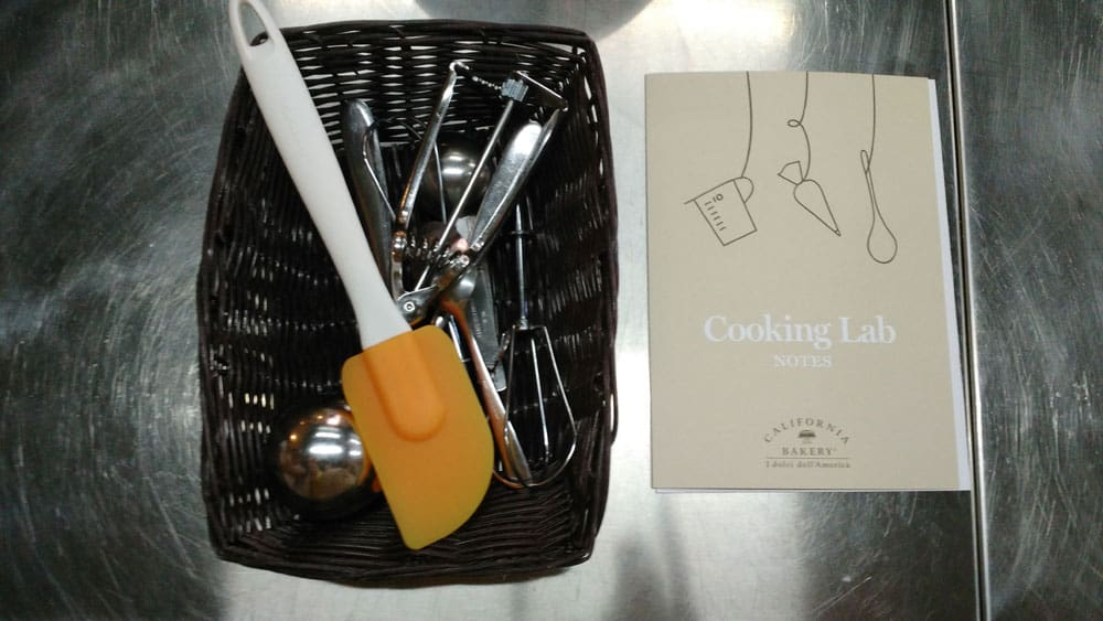 ricetta e strumenti california bakery