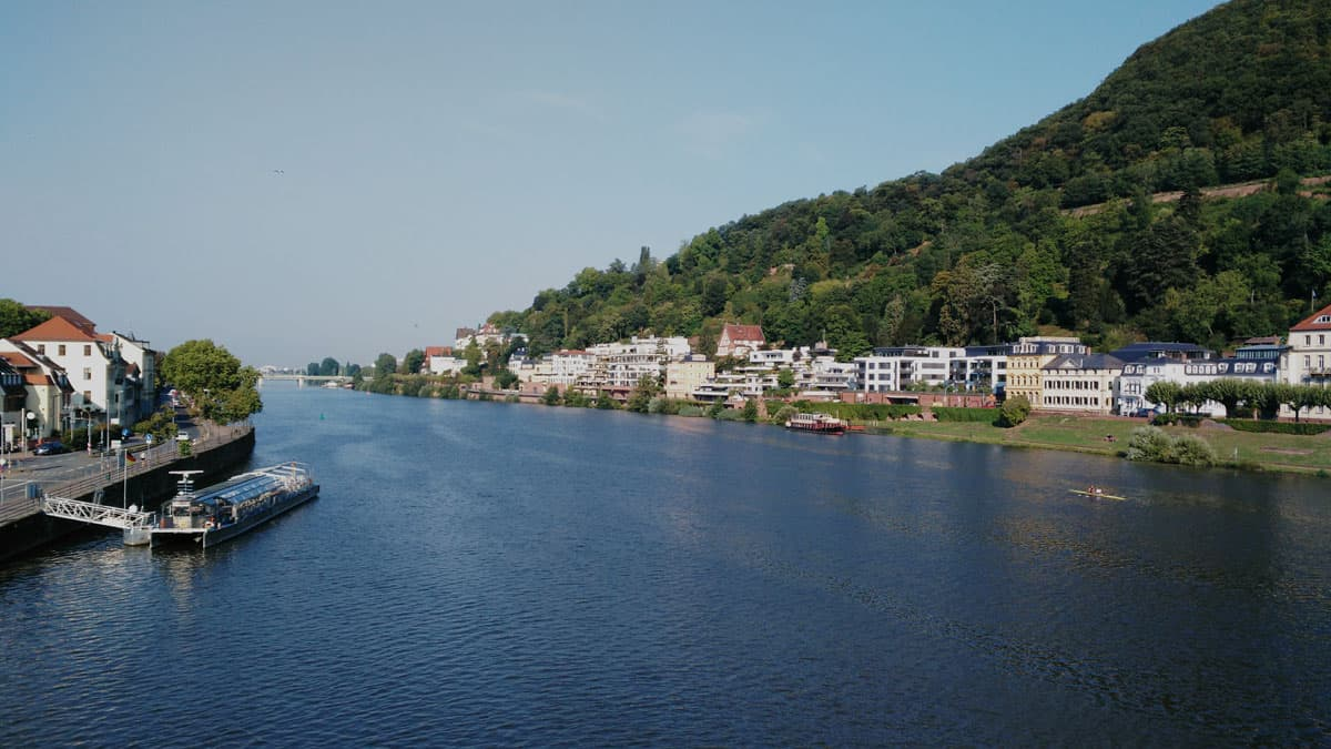 Heidelberg, vista sul fiume