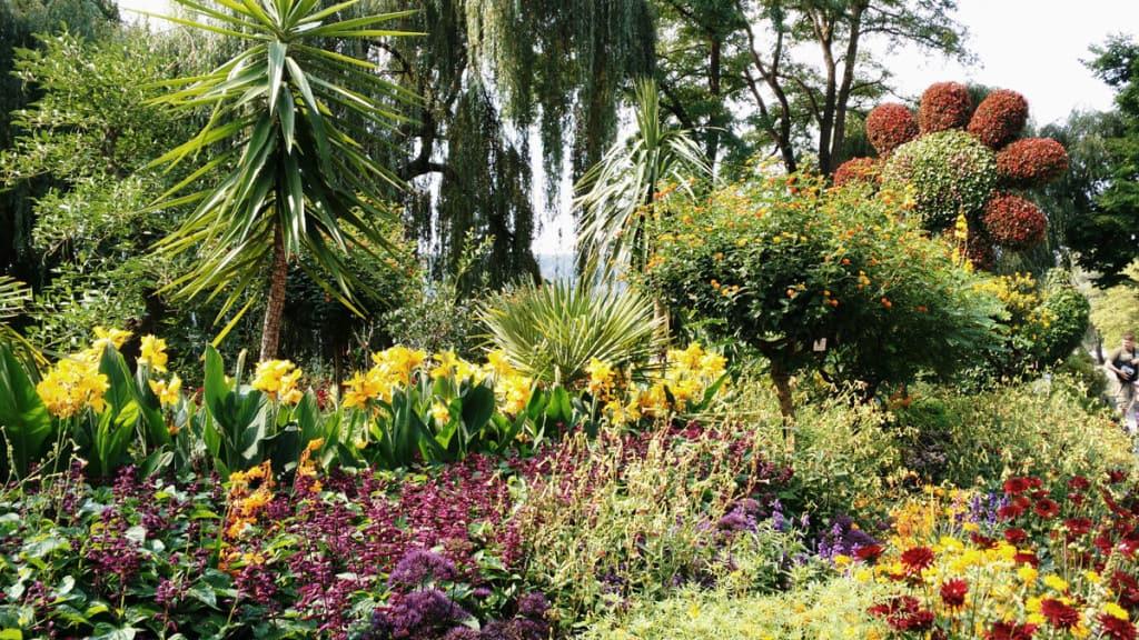 Isola di Mainau, il grande fiore all'ingresso.
