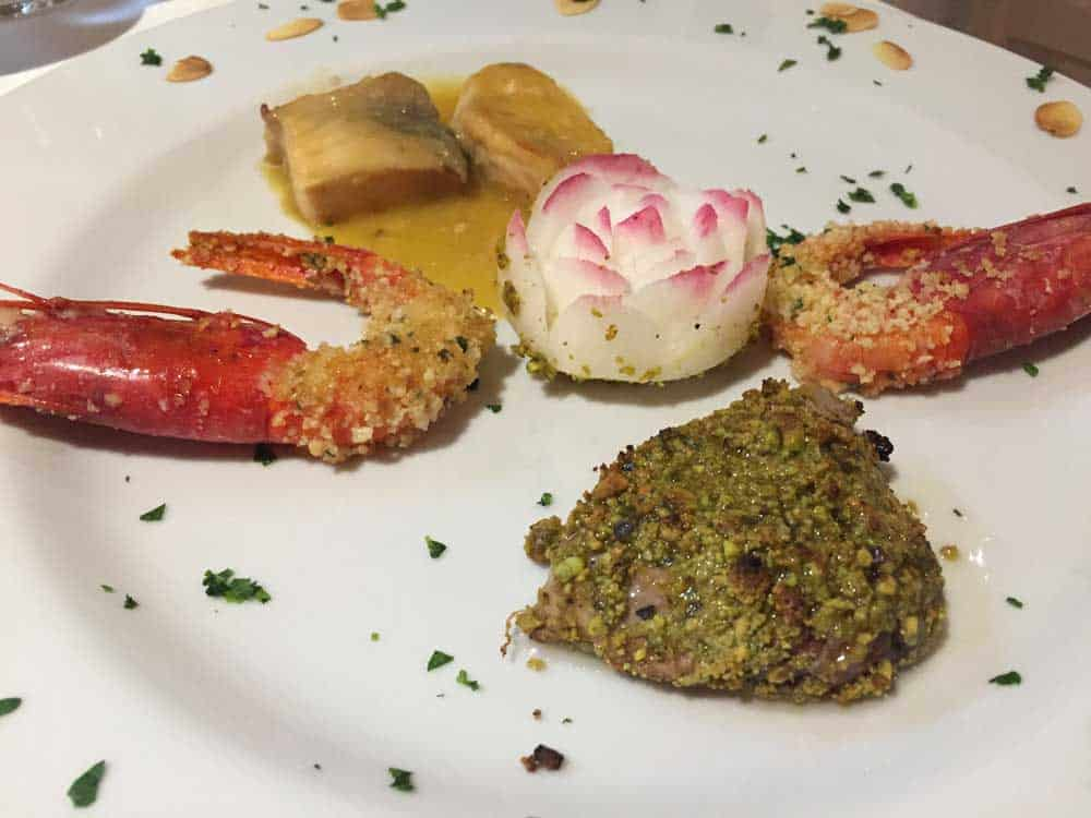 ristorante siciliano milano piatto di pesce