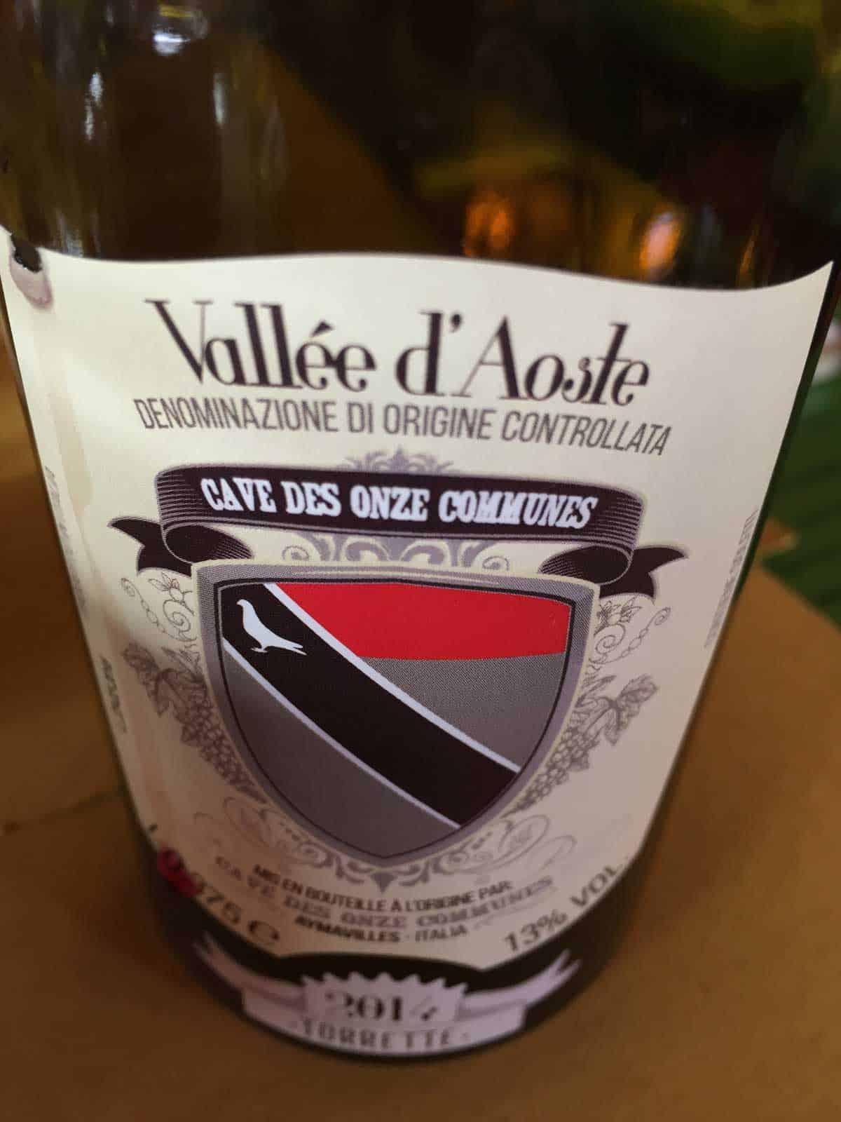 vino valdostano cogne