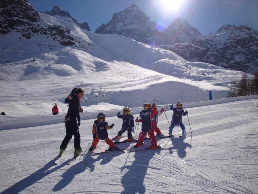 crissolo sciare bambini