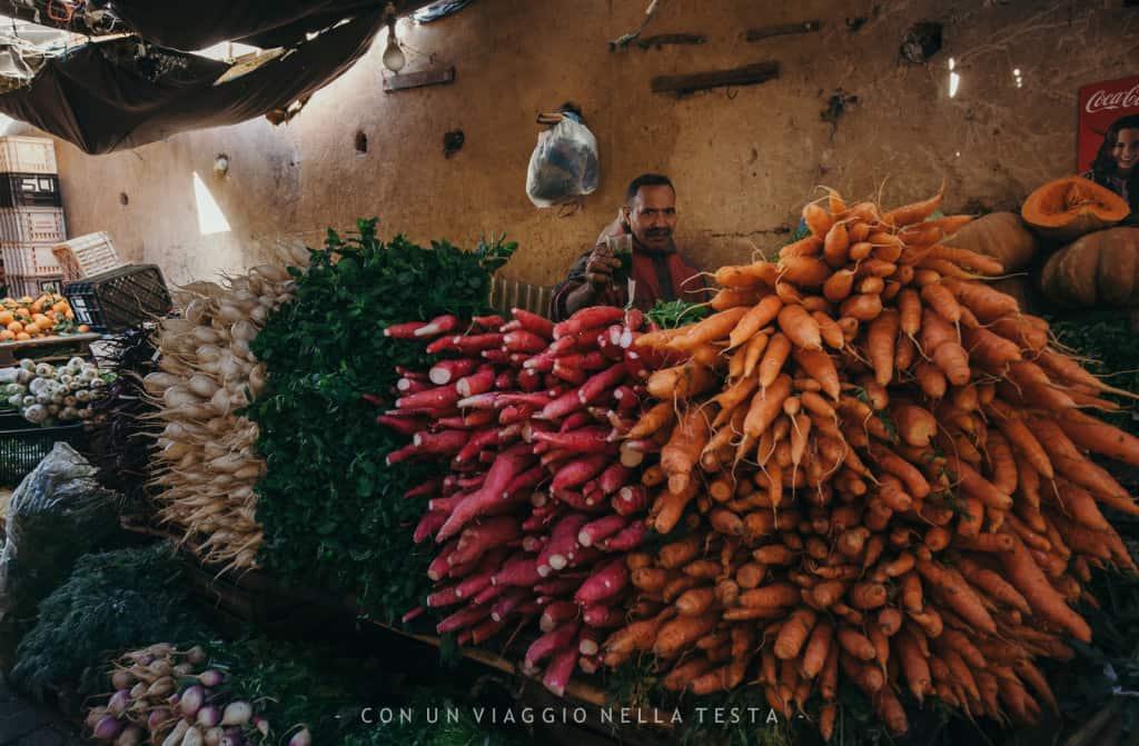 viaggio a fez marocco frutta verdura mercato medina