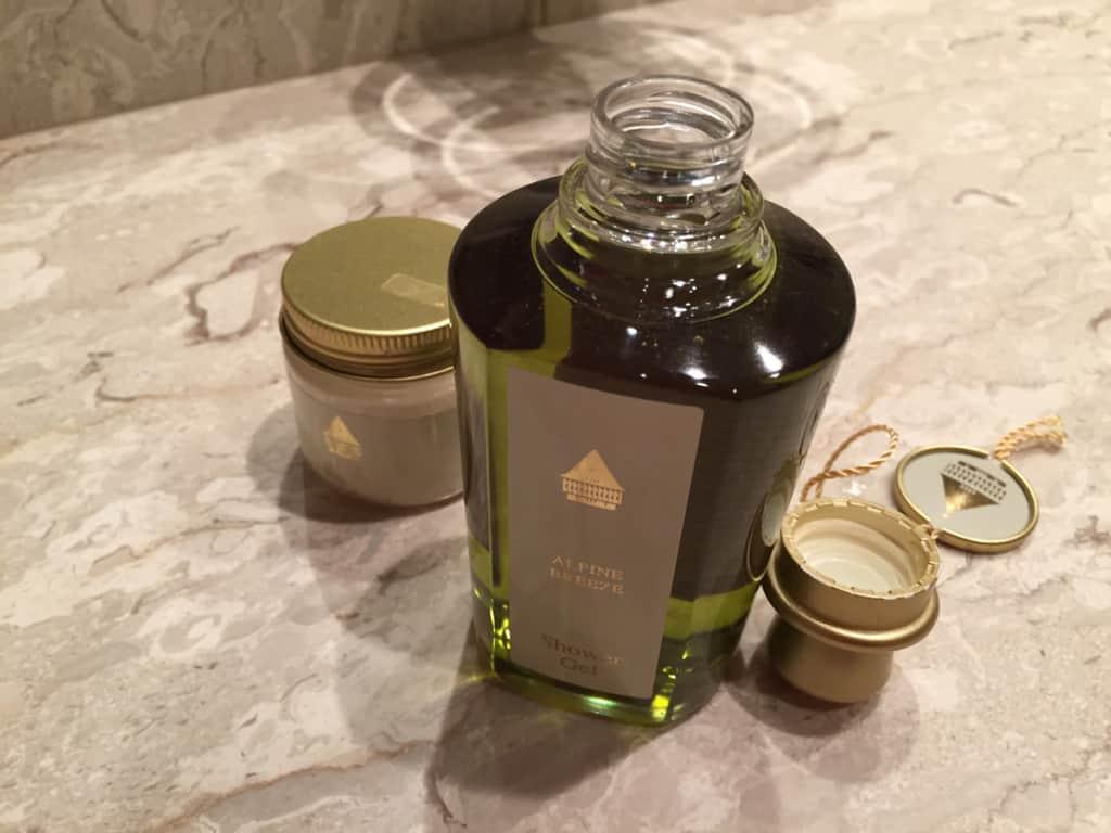 Il packaging dei prodotti in bagno
