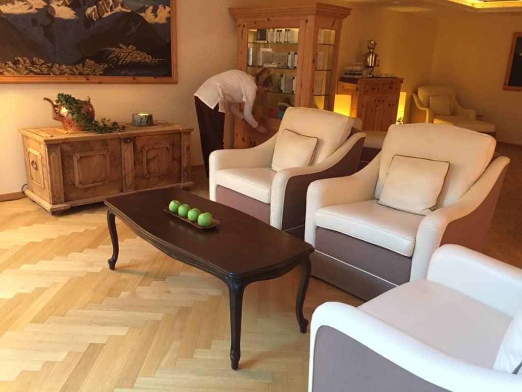 La sala relax della Palace SPA