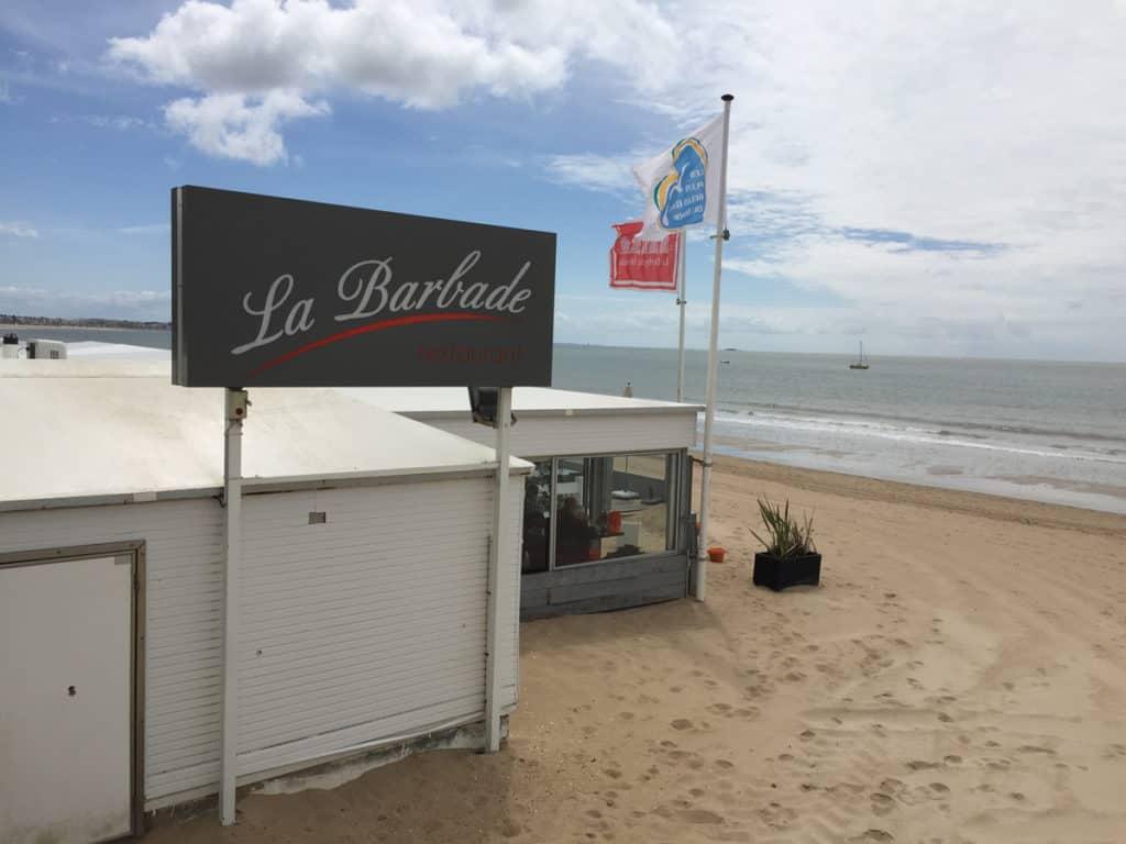 Ristorante la Barbade sulla spiaggia de La Baule