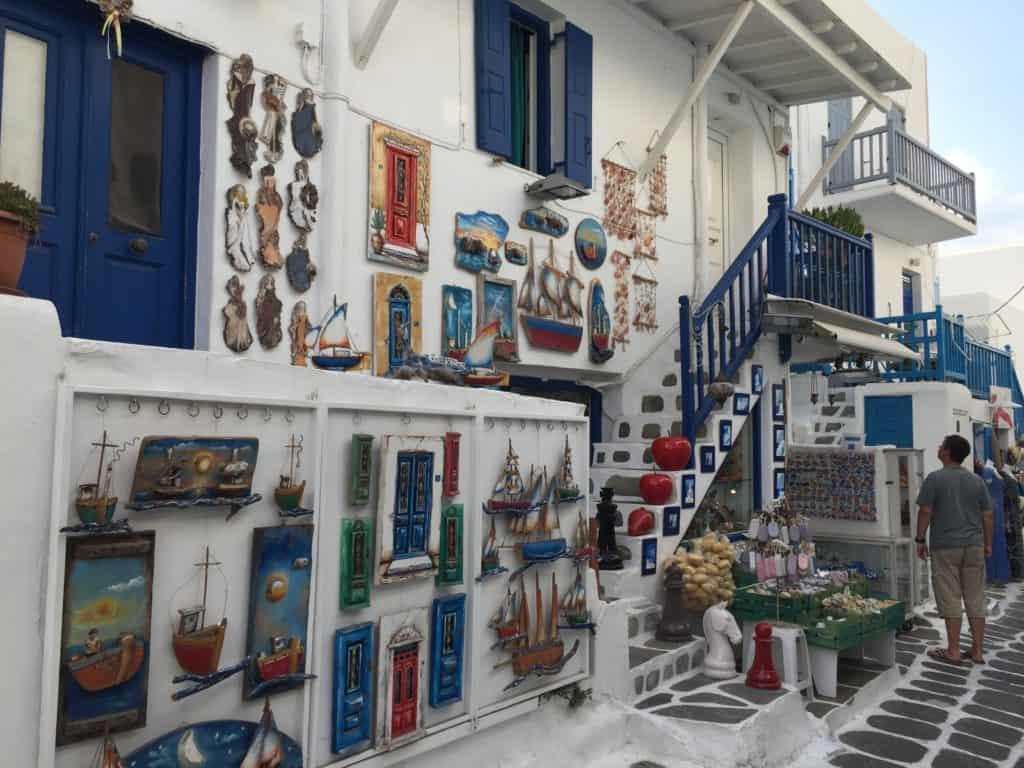 vacanze a Mykonos stradine Mykonos Town
