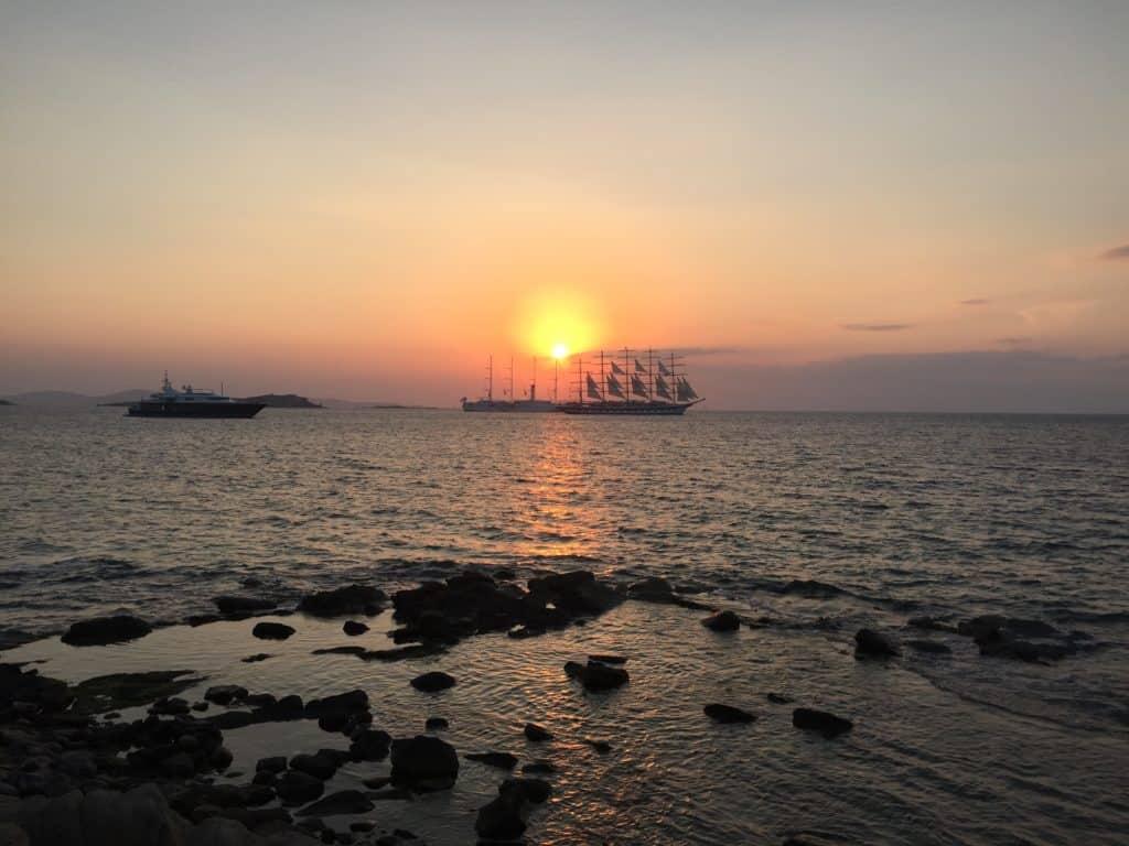vacanze a mykonos tramonto