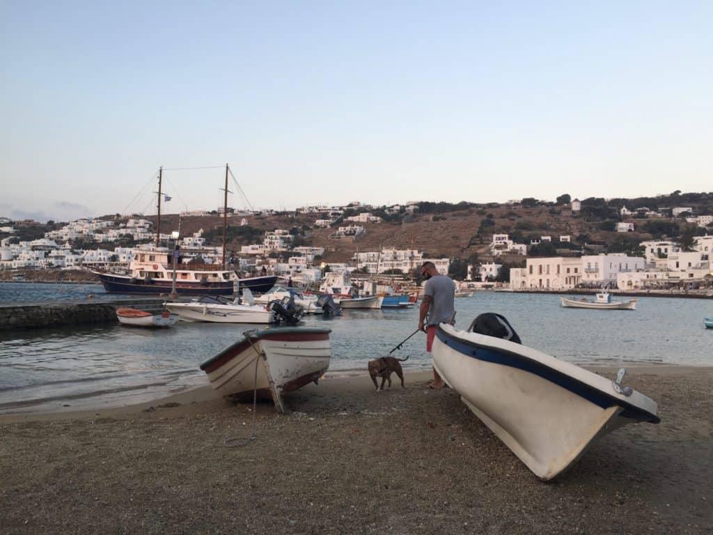 vacanze mykonos barche porto