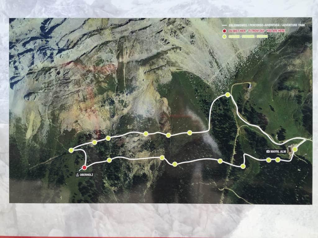 latemarium escursioni mappa