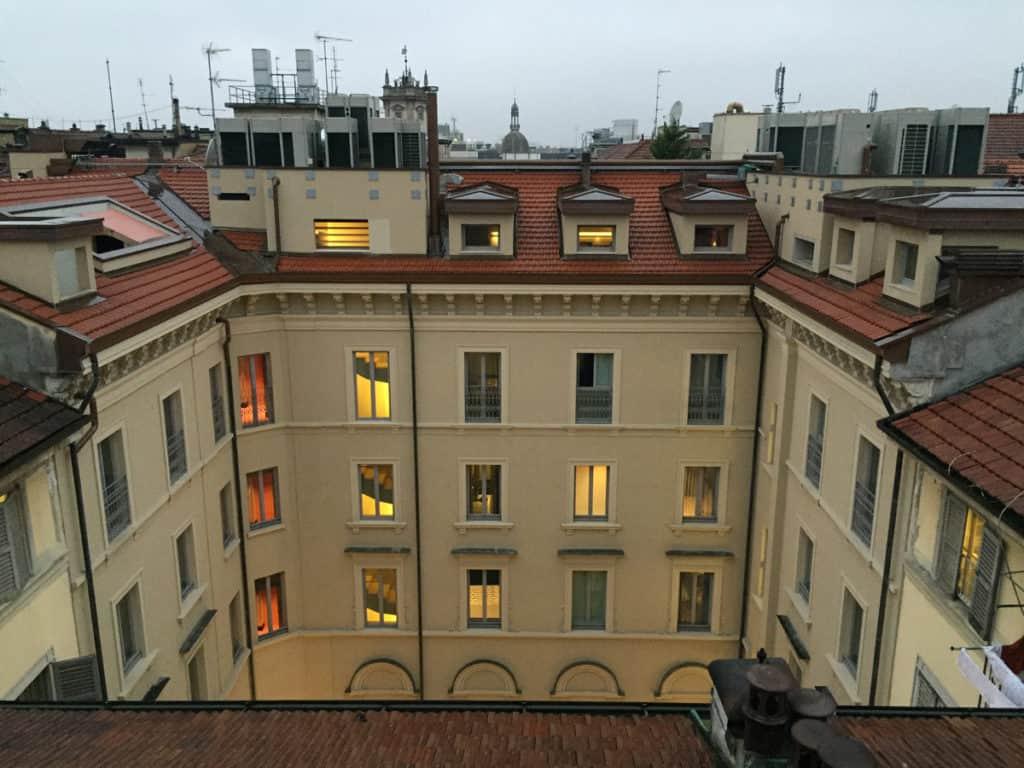 camminamento galleria milano vista tetti