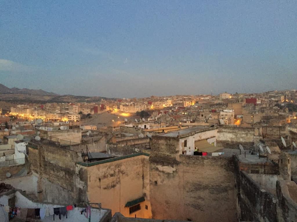 L'alba dal tetto del rias