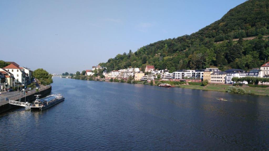 Heidelberg, la vista sul fiume Neckar