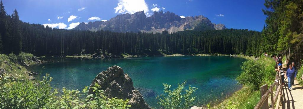 lago di carezza panoramica