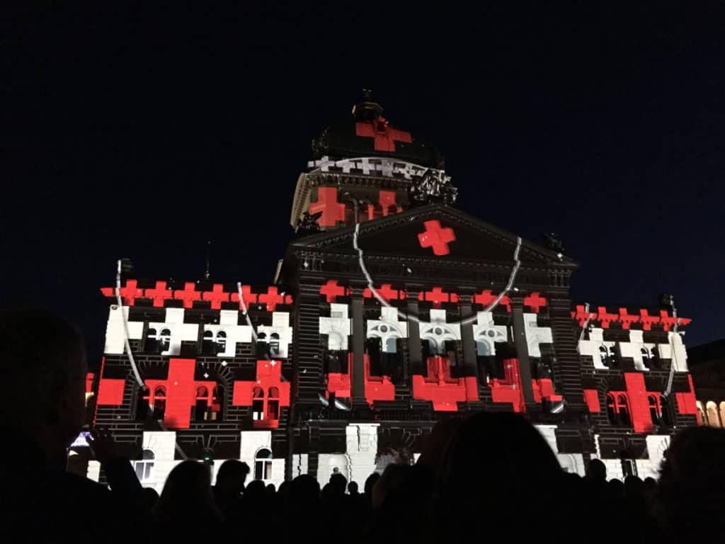 Berna spettacolo Palazzo Federale