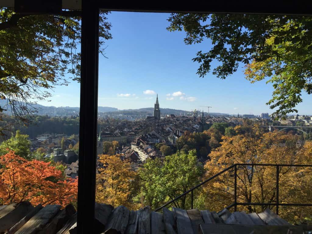 Dove mangiare a Berna Svizzera: la bellissima vista dal Rosengarten restaurant