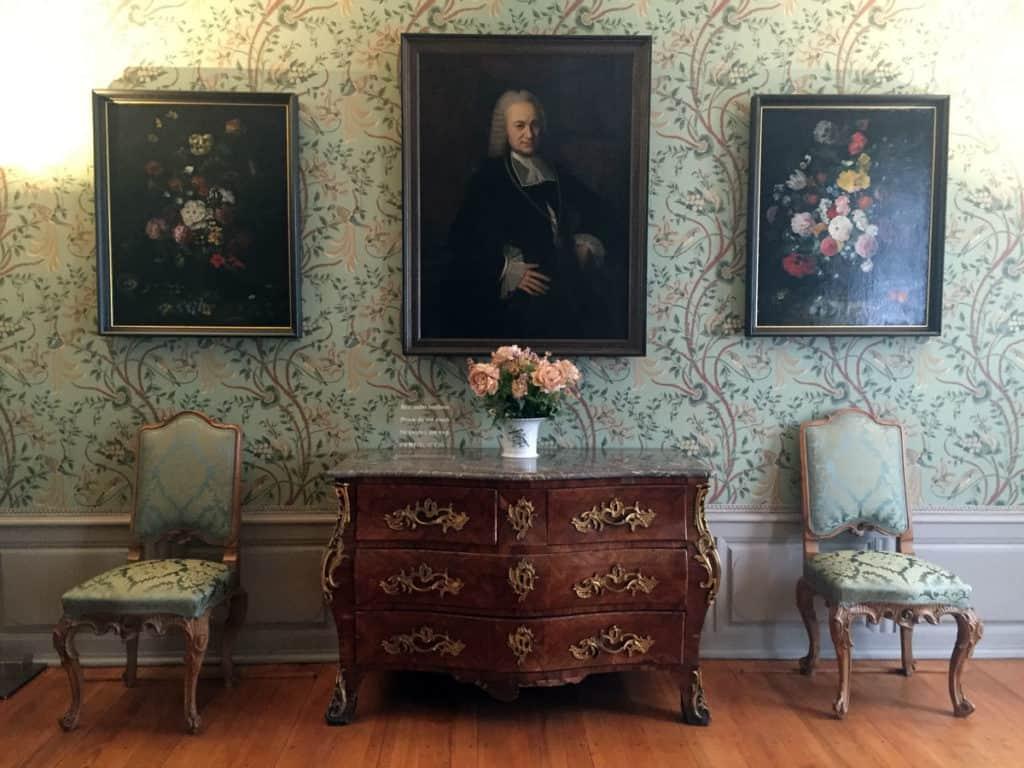 Una delle stanza della casa di Goethe a Francoforte
