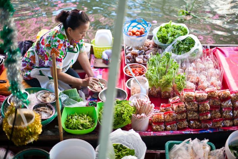 Bagkok mercato galleggiante