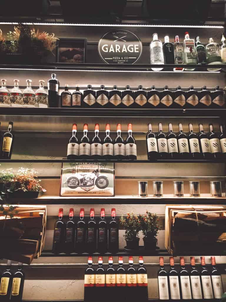 garage pizza milano bottiglie