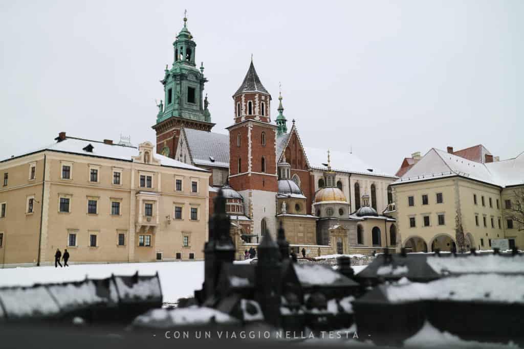 Vista sul Castello di Wawel, uno dei luoghi da visitare a Cracovia