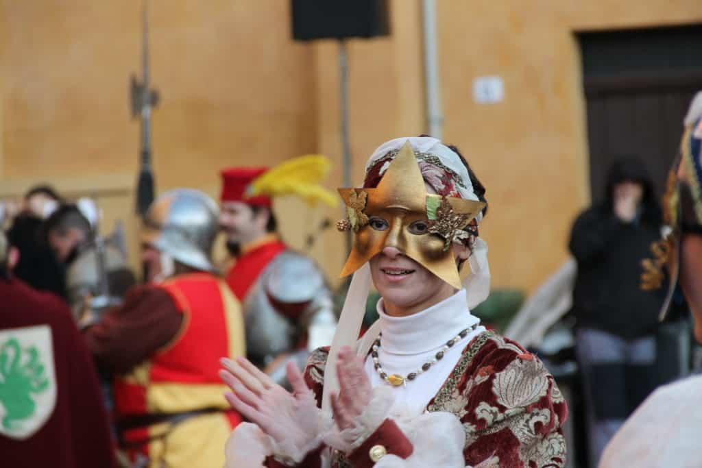 Una maschera al Carnevale rinascimentale di Ferrara