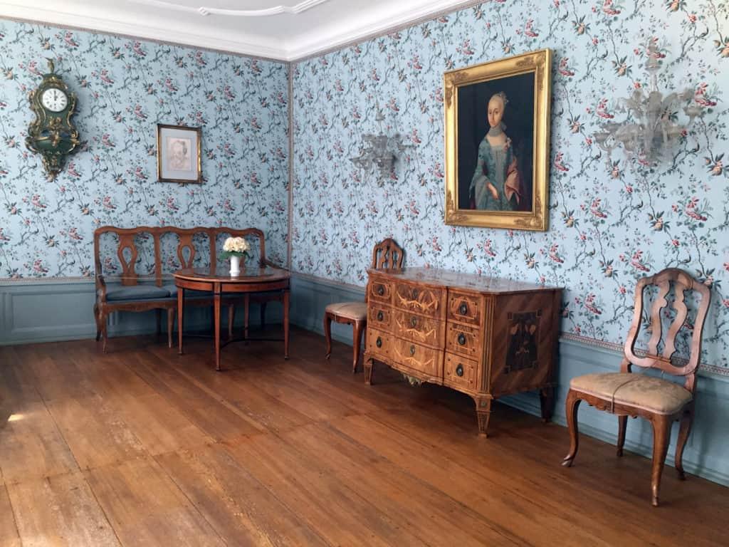 La stanza di Cornelia, sorella di Johann Wolfgang. nella casa di Goethe a Francoforte