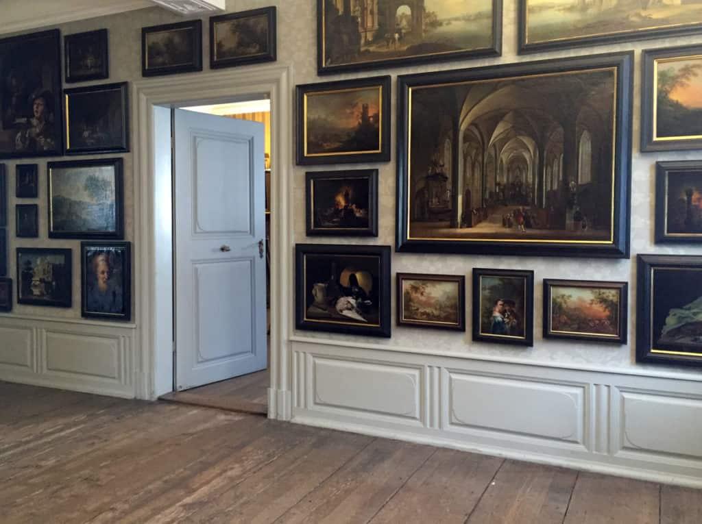 La stanza dei quadri nella casa di Goethe