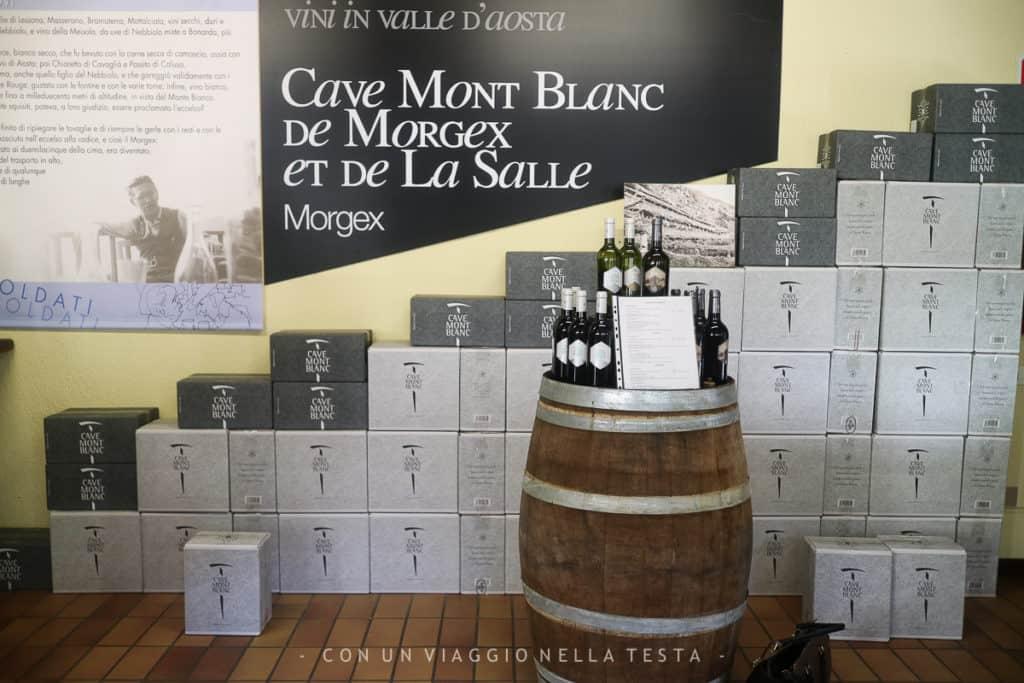 Lo shop della cave Mont Blanc