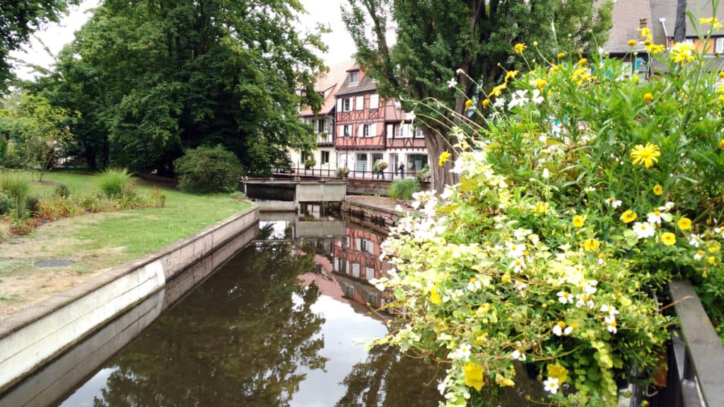 Giro in barca sui canali della piccola Venezia di Colmar