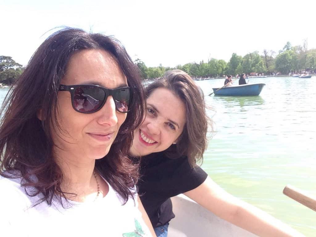Sulla barchetta al Parque del Buen retiro in un'inaspettata giornata di sole a Madrid!