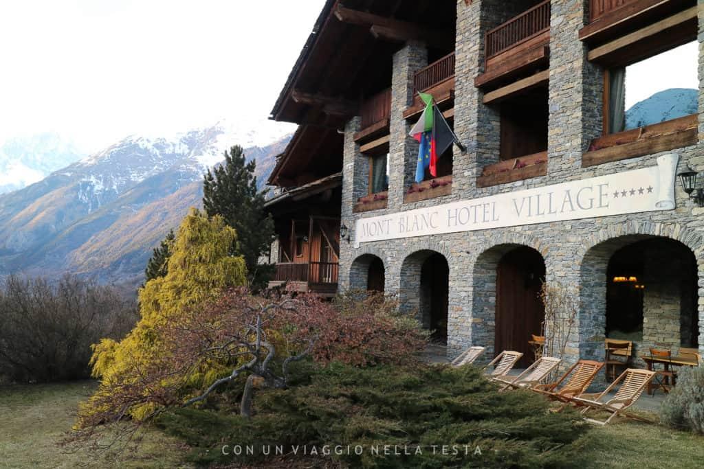 Mont Blanc Hotel Village, la facciata protesa verso i monti