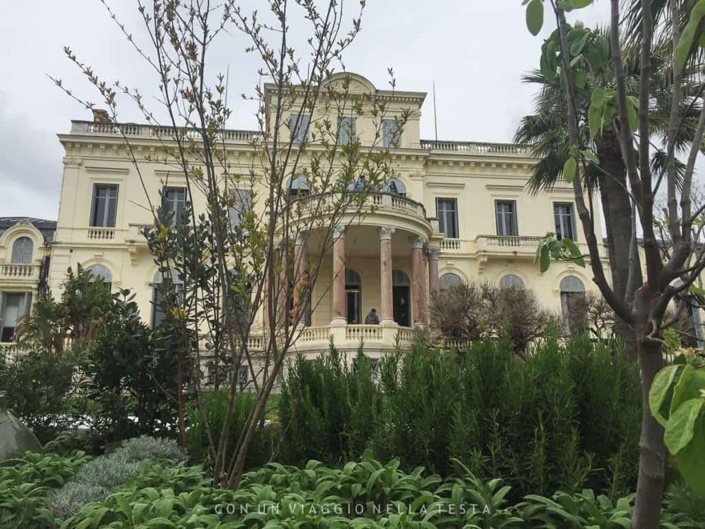 La Villa Rothschild di Cannes, sede di uno dei giardini effimeri in concorso per il Festival dei Giardini