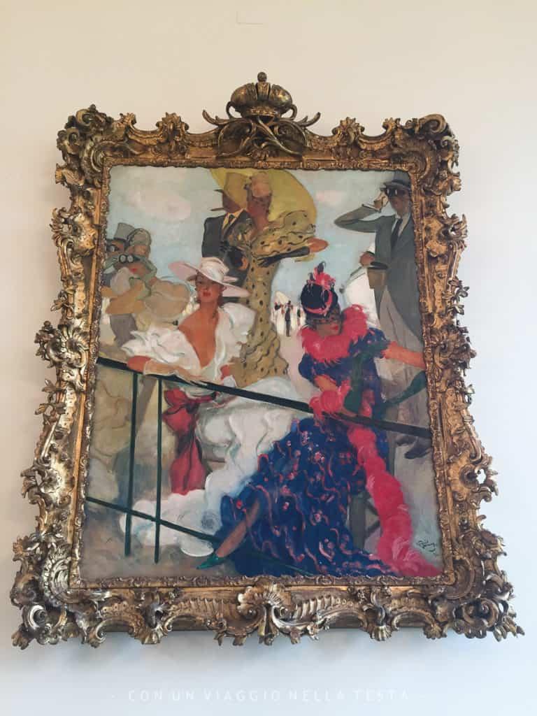 Una delle opere di Domergue all'interno della Villa