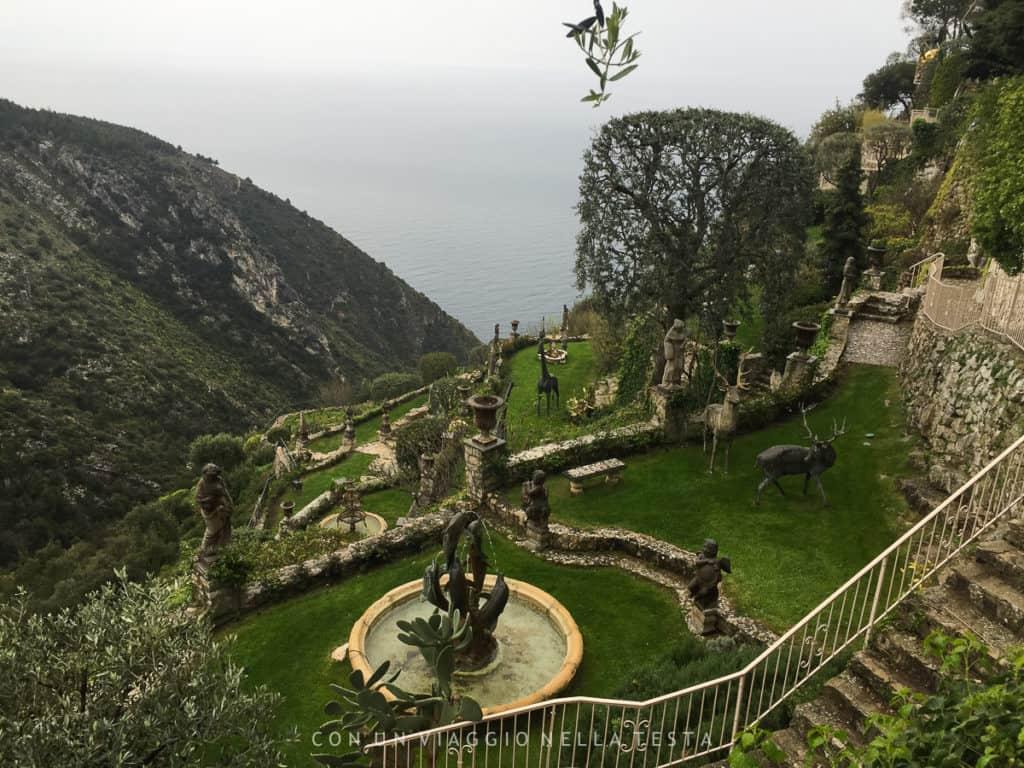 I giardini terrazzati de Le Chevre d'Or