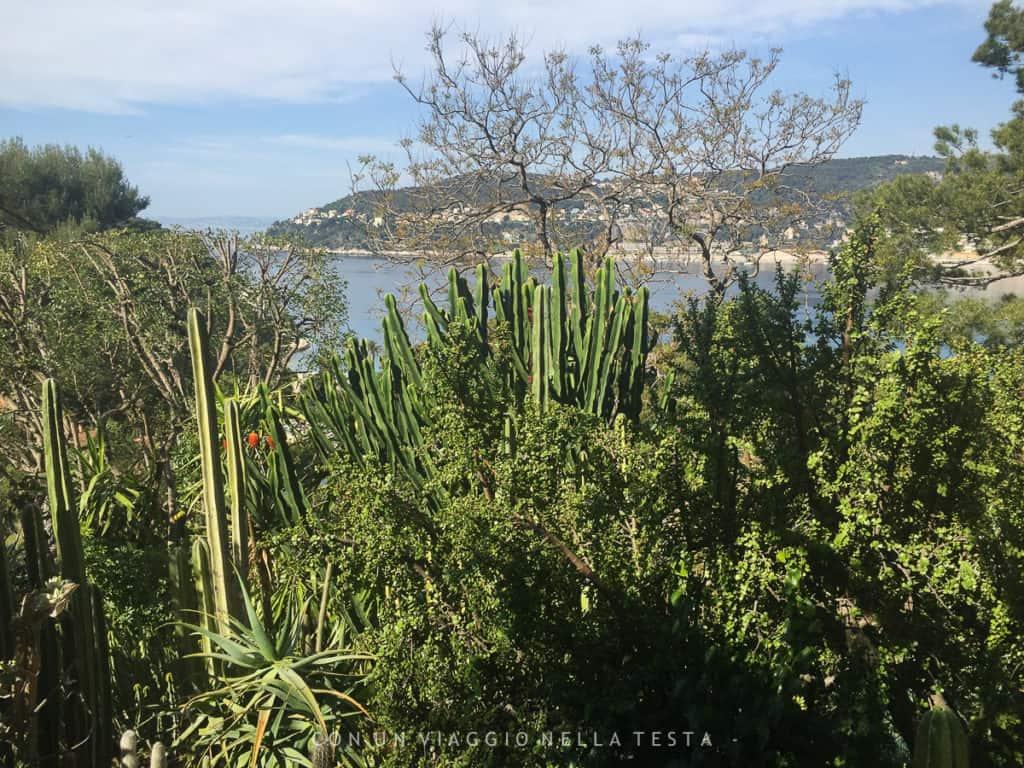 La vista sul mare dai giardini della Villa Ephrussi de Rothschild