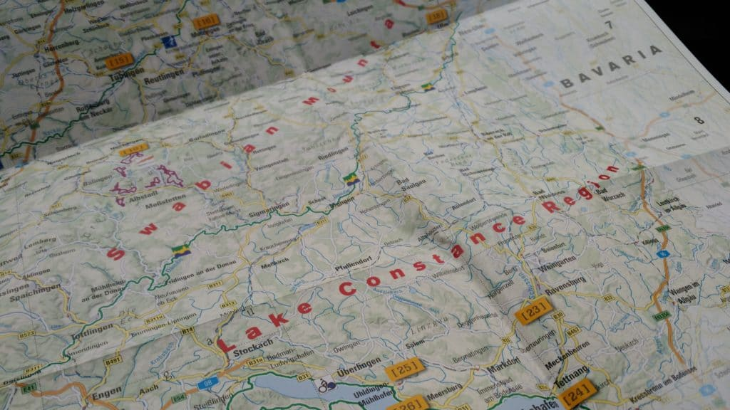 organizzare un viaggio on the road mappa