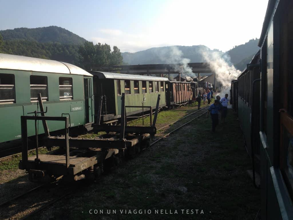 mocanita treno a vapore romania stazione viseu de sus